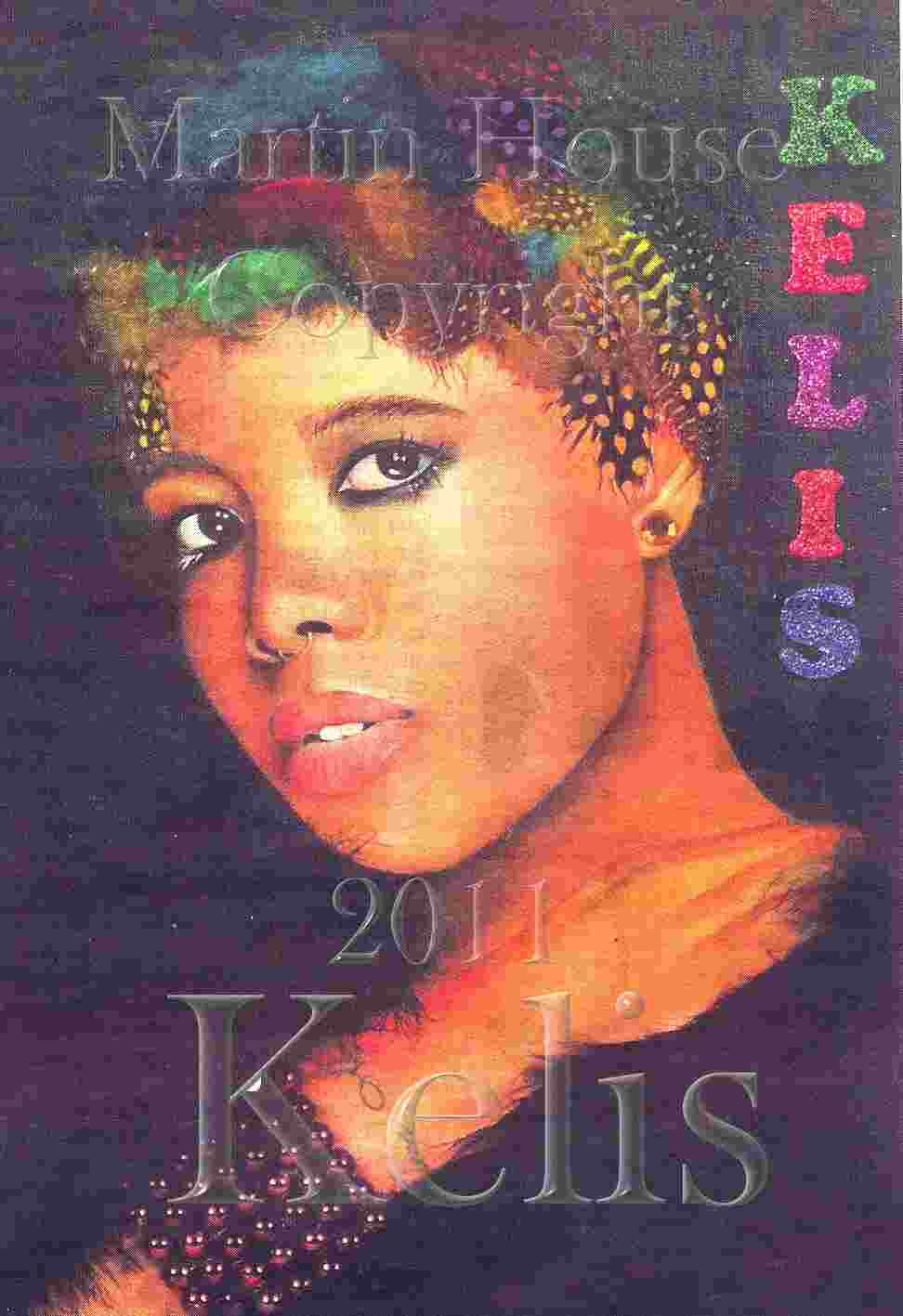 Kelis, wearing bird feathers, by Martin House