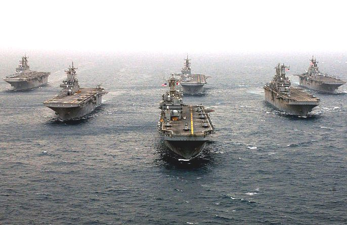 United States Navy, USN amphibious assault warships