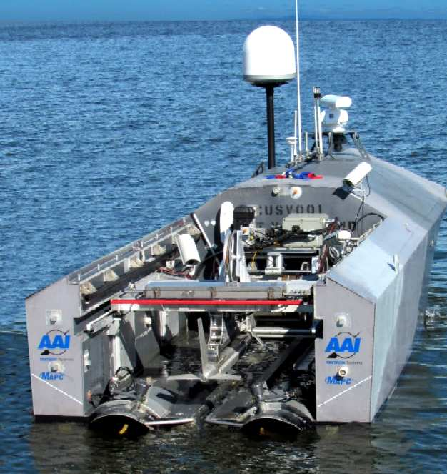 Textron MAPC AAI unmanned robot mine hunter