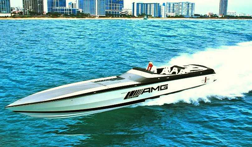 AMG Mercedes electric offshore cigarette powerboat