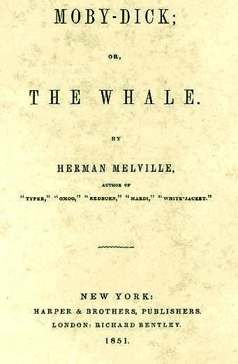 Moby Dick novel title page