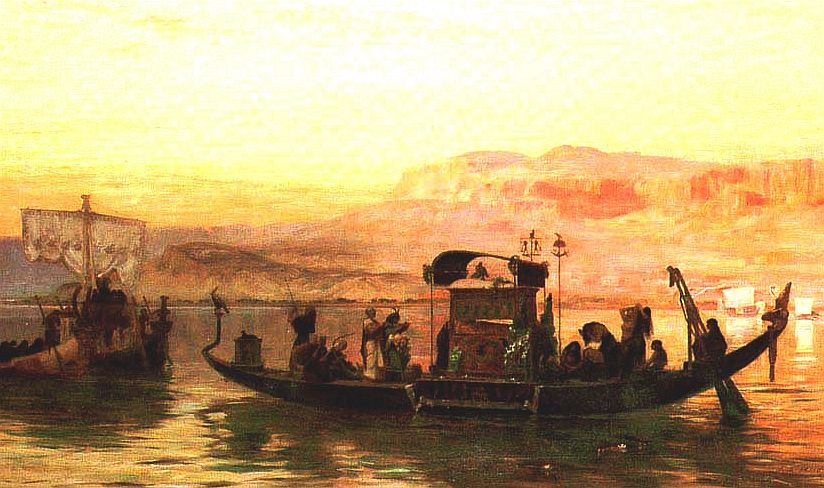 Queen Cleopatra's royal barge, last of the Pharoahs