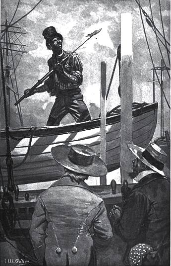 Queequeg the harpooneer in Moby Dick by Herbert Melville