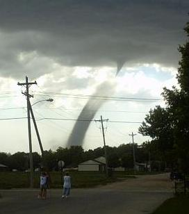 Tornado landspout near North Platte, Nebraska on May 22, 2004