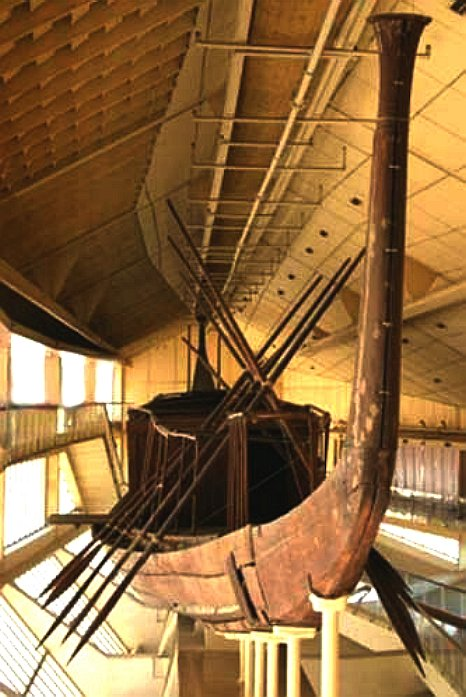 Pharoah Khufu's royal barge, solar boat for the afterlife