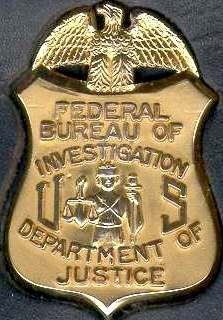 FBI Federal Bureau of Investigation US Department of Justice badge of office
