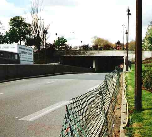 The Pont de l'Alma tunnel, where Princess Diana was fatally injured
