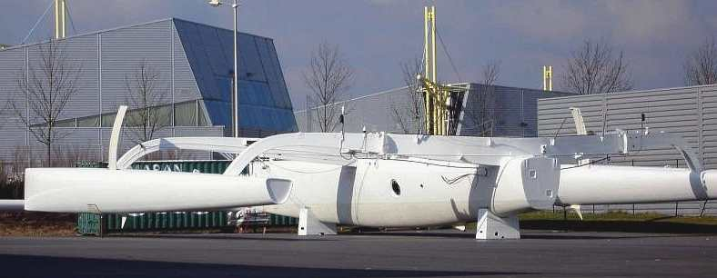 Groupama 1 trimaran bare hull in white
