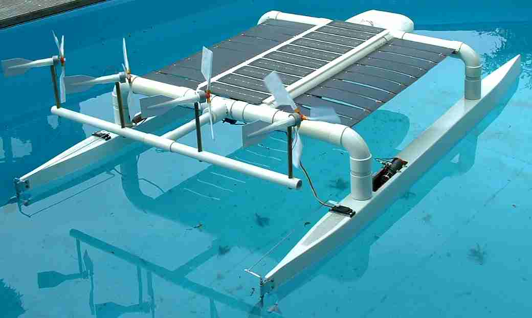 Solar powered catamaran Solarnavigator