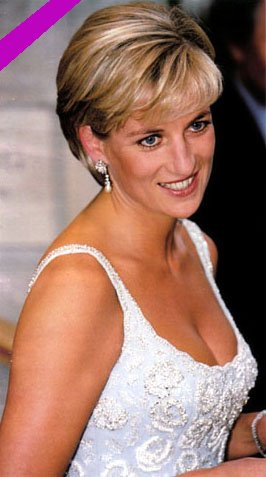 Diana Princess of Wales white evening dress