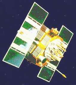 Solar panels power satellites