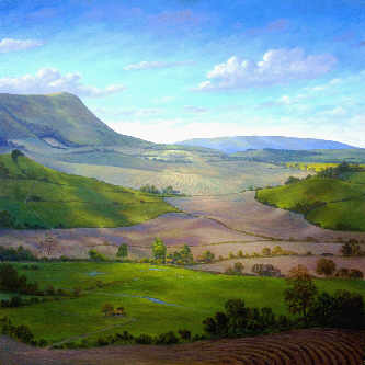 Firle Beacon, Sussex painting by R C Martin