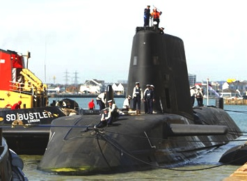 Operation Neptune and HMS Astute nuclear powered Royal Navy submarine