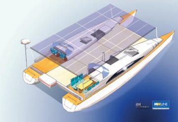 Sun 21 transatlantic solar catamaran attempt drawing