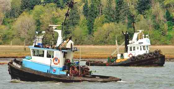 River Tugboats, Tugs towing