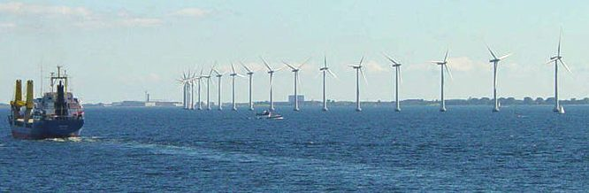 Offshore wind farm off Danish coast