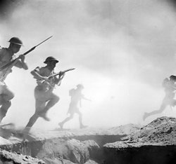 British infantry attack at the Second Battle of El Alamein