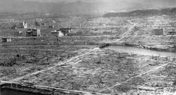 Hiroshima, following the atomic bombing