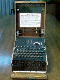 German Enigma machine for encryption