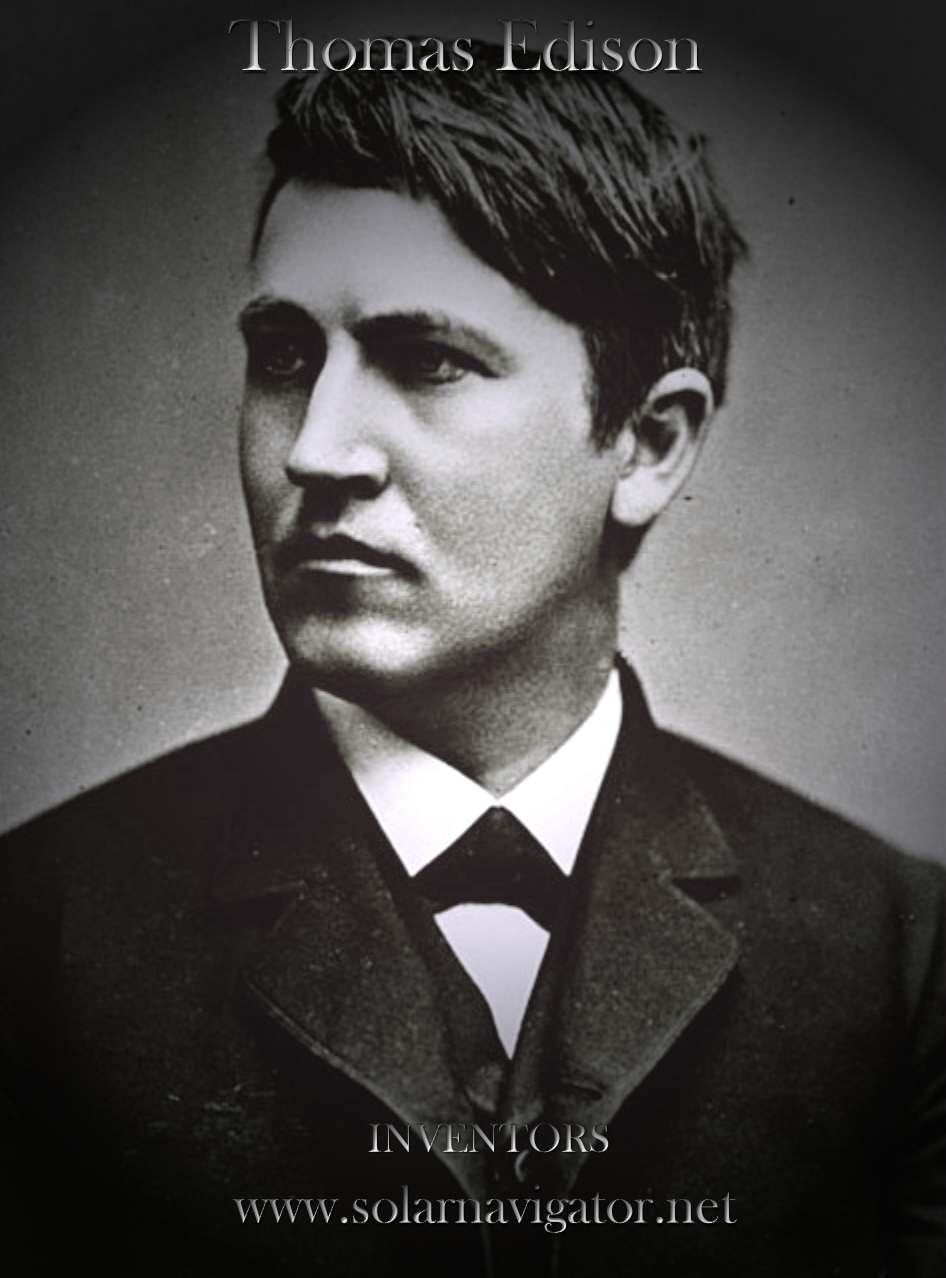 Thomas Edison, inventor of the electric light bulb