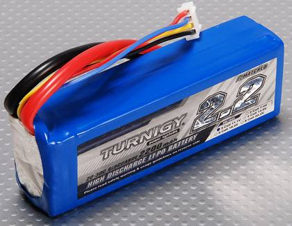 Turnigy lithium polymer battery pack 2200 mAh $8 value